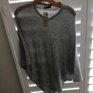 Sweaters - Cashmere grey poncho